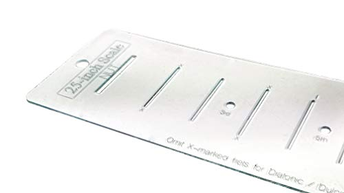 25-inch Fretting Scale Marking Template for Guitars - Laser-cut-Acrylic - Popular Scale used on National(TM) and Paul Reed Smith(TM) Guitars ()
