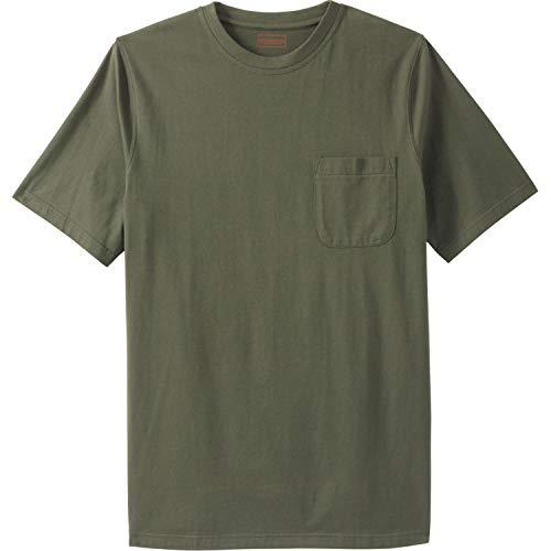 Boulder Creek Men's Big & Tall Crewneck Pocket T-Shirt, Olive Tall-5Xl