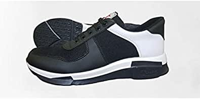 Men's casual shoes with lace black / white color