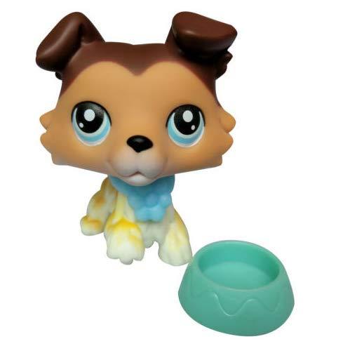 Pet Shops LPS Littlest Collie Dog Rare SAGE # 58 Paw Up Brown Tan Puppy Figure