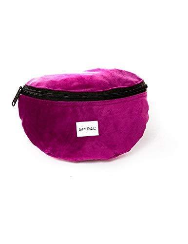 Spiral Mulberry Velvet Bum Bag Sport Waist Pack, 23 Cm, 2 Liters, Purple