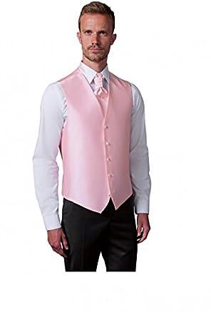 Gilet de Costume Homme uni sans poches rose ou gris clair - Gris - XL   Amazon.fr  Vêtements et accessoires 1e7e7be1eef