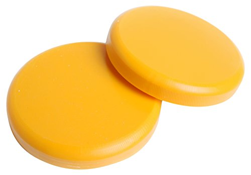 (Rayne Longboards Slide Pucks - Yellow, Sold as a Pair, Extremely Durable Delrin Slide Pucks Backed with Die Cut Velcro, Low Friction for Easy Slides with Optimal Protection)