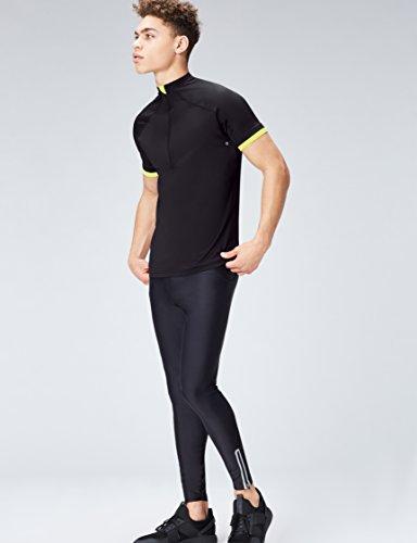 Courtes Noir lime De Homme black Activewear Manches Maillot Cyclisme IU66wq