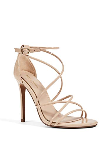 Price comparison product image GUESS by Marciano Women's Hollywood Strappy Patent Heel Nude