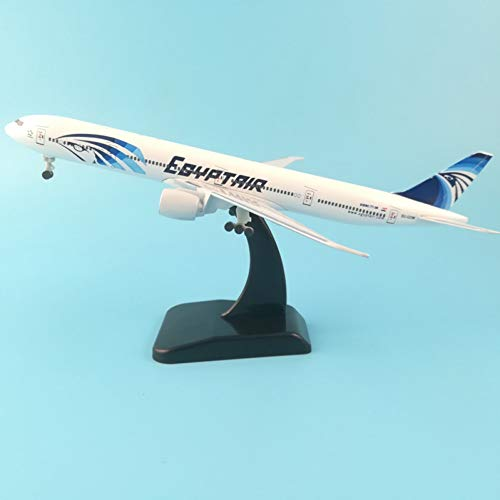 Marreto 20Cm Metal Plane Model Egypt Air Egyptair Airlines Boeing 777 Airplane Model W Stand Aircraft Pulley Landing Gear Collect Gifts