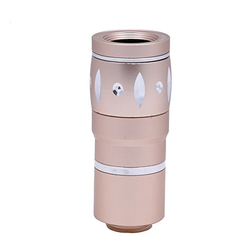 Diamondo 10X Zoom Aluminum Universal Manual Focus Camera Lens for Various Smart Phone (Rose Gold)