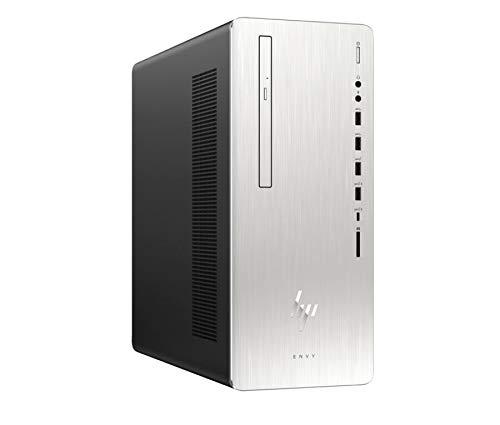 HP Envy Desktop Computer, Intel Core i5-8400, 12GB RAM, 1TB Hard Drive, 256GB SSD, Windows 10 (795-0010, Silver)