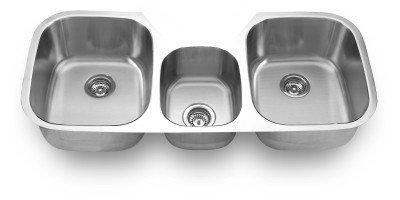 SFC SM1180C Undermount Triple Bowl Kitchen Sink44; 42.25 x 20.625 x 9 in. by SFC
