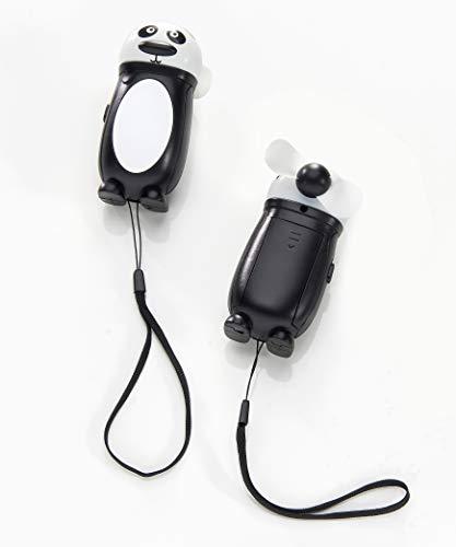 Tropical Retreat Mini Panda Black and White 4 x 2 Acrylic Electric Personal Fan