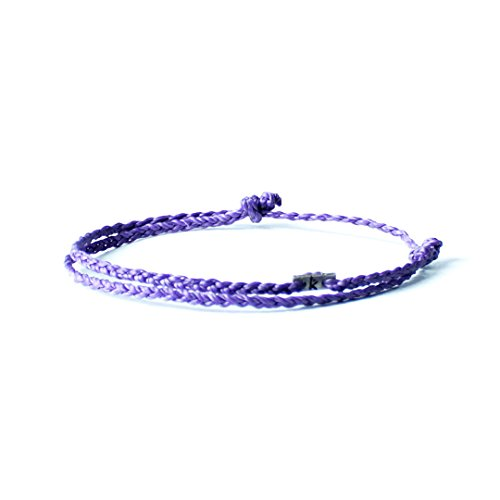 Wakami Single Strand Bracelet Anklet Handmade Adjustable Friendship Bracelets or Anklets :: Make Your Own :: Buy 3 Get 1 Free (Purple)