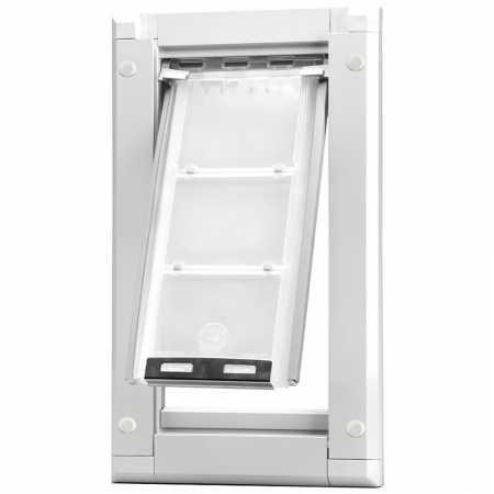 "Endura Flap 03PP10 1 Door Mount - Single Flap Pet Door, Large/10"" x 19"", White from Endura Flap"
