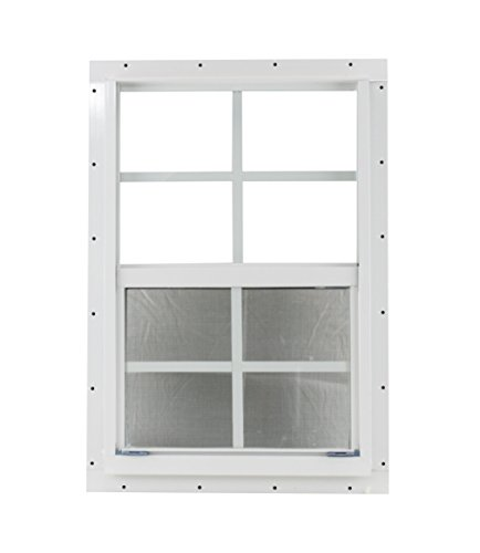 Shed Window 14 X 21 White J-Channel Mount Safety Glass by Shed Windows and More (Image #3)