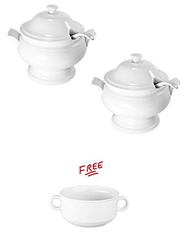 Pack of 2 BIA Cordon Bleu Tureen with Ladle with FREE! by BIA Cordon Bleu (Image #1)