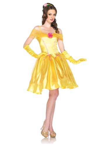 Leg Avenue Disney. Princess Belle Costume Dress, Yellow, (Belle Dress For Adults)