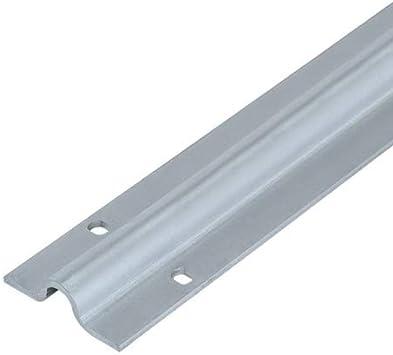 Carril atornillar para puertas correderas U 16 mm, 3 m, acero ...
