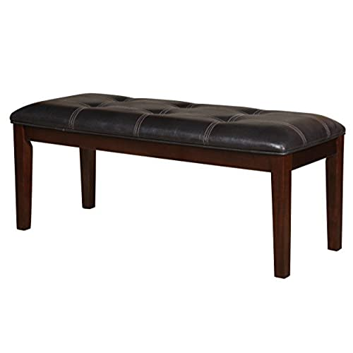 Homelegance 2456 13 Bench Upholstered, 49 Inch, Dark Brown