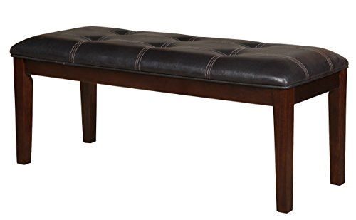 Homelegance 2456-13 Bench Upholstered, 49-Inch, Dark Brown by Homelegance