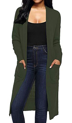 Maniche Autunno Relaxed Tempo Moda Donna Cappotto Con Comodo Classiche A Pullover Coffee Libero Maglia Lunghe Elegante Donne Outwear Lunghi Tasche Primaverile Giacca Monocromo S0pSqP