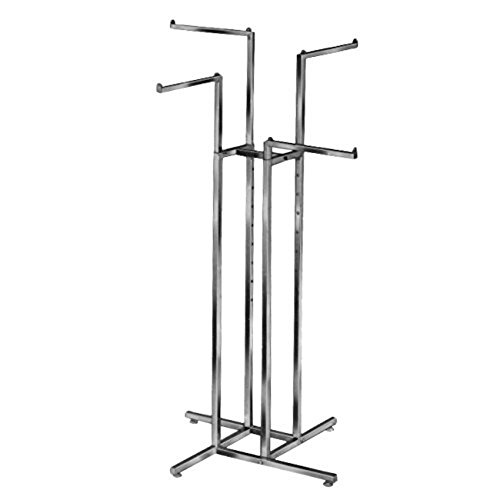 AMKO R13 4-Way Garment Rack, Chrome by AMKO Displays
