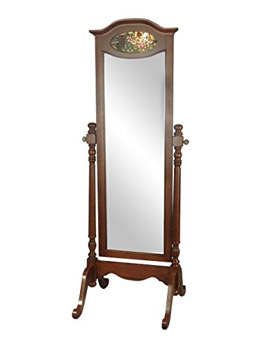 Cherry Blossoms Against Red Background (Springdale Annesley Standing Mirror with Light, Cherry)