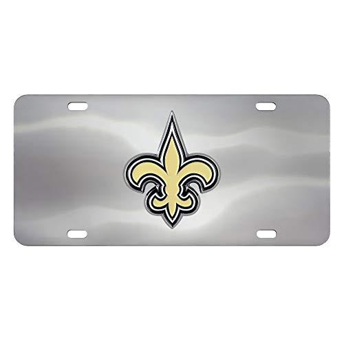 (Fanmats NFL New Orleans Saints Die Cast License Platedie Cast License Plate, Chrome, 6