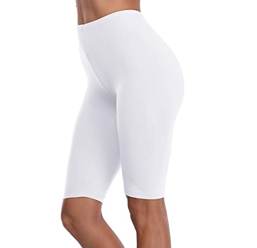 DITSONEO Plus Size Leggings for Women Knee Length Leggings Pant Mid Thigh Stretch Shorts (S/M, ()