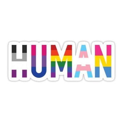 Chili Print Human, LGBT+ - Sticker Graphic Bumper Window Sicker Decal - Gay Pride Sticker: Automotive