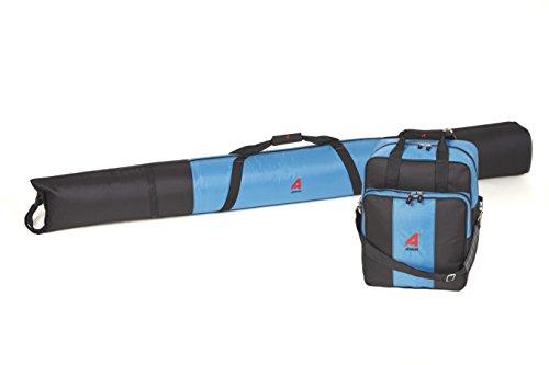 Athalon Deluxe Two-Piece Ski & Boot Bag Combo (Glacier Blue/Black)