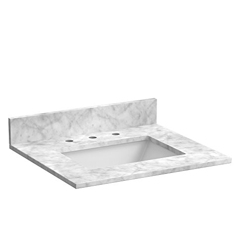 Foremost ST25228CWR 25-Inch Marble Vanity Top In Carrara White