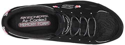Skechers Women's Gratis Divine Bloom Sneaker BKW=Black White 7.5 M US