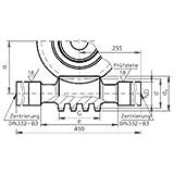 Precision worm shaft centre distance 125mm i=14.5