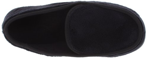 Isotoner Men's Microterry Slip On Slippers,  X-Large,  Black