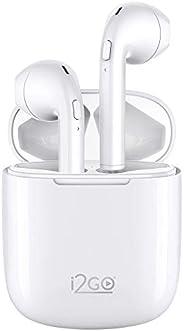 Fone de Ouvido Bluetooth sem fio TWS Air Sound Go 2 i2GO com Estojo de Carregamento - i2GO Pro Plus, Branco, c