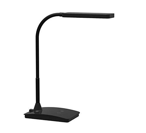 LED-tafellamp MAULpearly colour vario, dimbaar, 36 cm hoog, flexibele arm, met standaard, zwart, 8201790