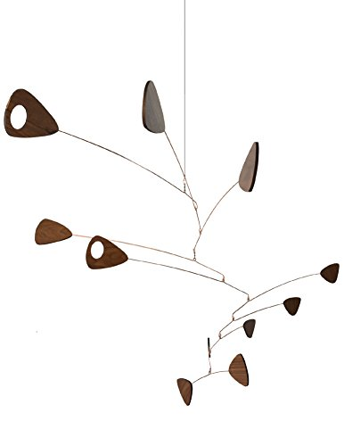 American Made Walnut Wood and Copper Mid Century Style Indoor Mobile, 31″ x 48″ 31MIFW4h4HL