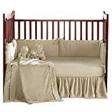 Heavenly Soft Crib Bedding - color: Ecru