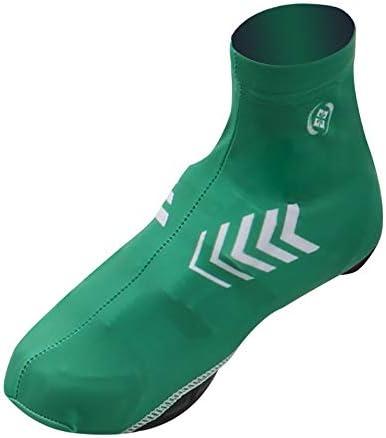 サイクリングシューズカバー 高強度ライクラ自転車乗馬多機能防水と防風靴カバー 防水レインブーツシューズカバー (Color : Red, Size : M)