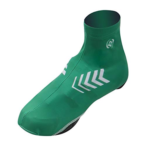 Liweibao Cycling Shoe Cover High-Elastic Lycra Bicycle Shoe Covers, Bicycle Cycling Shoe Covers, Multi-Function Waterproof and Windproof Shoe Covers (Color : Green, Size : L)