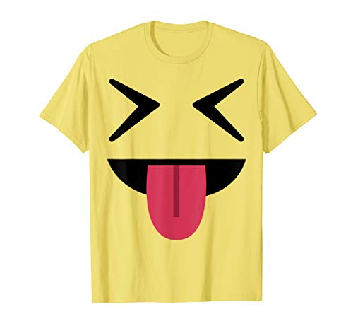 Halloween Emojis Costume Shirt Tongue Out Squinting Eyes