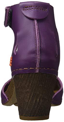 Becerro violet Meet 0144 Cerrada Con Violet Mujer Punta i Violet Morado Para Art Sandalias 514nUqggc