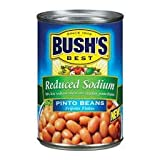 Bushs Pinto Beans 15.5oz Can (Pack of 6) (Pinto Beans - Reduced Sodium)