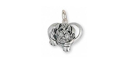 Bulldog Jewelry Sterling Silver Bulldog Charm Handmade Dog Jewelry BD29S-C