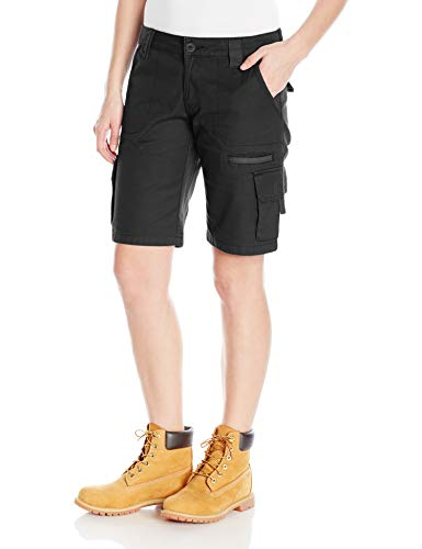 Dickies Women's 11 Inch Relaxed Cargo Short, Black, 16 ()