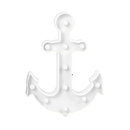 LEDMOMO Boat Anchor Night Light Decorative Signs Light-Wall Decoration for Living Room,Bedroom,Home, Kids Gift by LEDMOMO