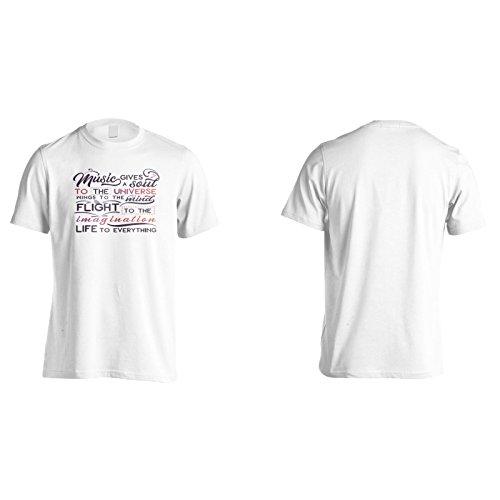 Musik Gibt Eine Seele An Die Universumsflügel An Den Geist Flug Zur Phantasie Herren T-Shirt n431m