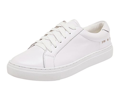 Unisex Simple Tortor Teenager Leather 1bacha Adult Fashion White Sneaker 5qv6w