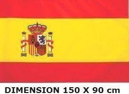 Planete Supporter - Bandera de España (150 x 90 cm, poliéster): Amazon.es: Hogar