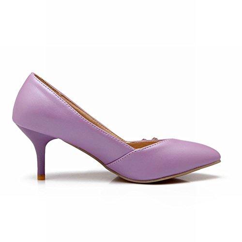 Eleganter Hofschuhe Charm Strass Stiletto Mid Heel Carol Shoes Lila Damen F6qxvRt8