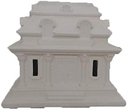 2 Story House Siding with Circle Window Mini House #5 unpainted ceramic bisque ready to be painted